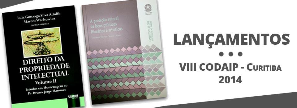 Lançamentos de livros na área de Propriedade Intelectual no VIII CODAIP