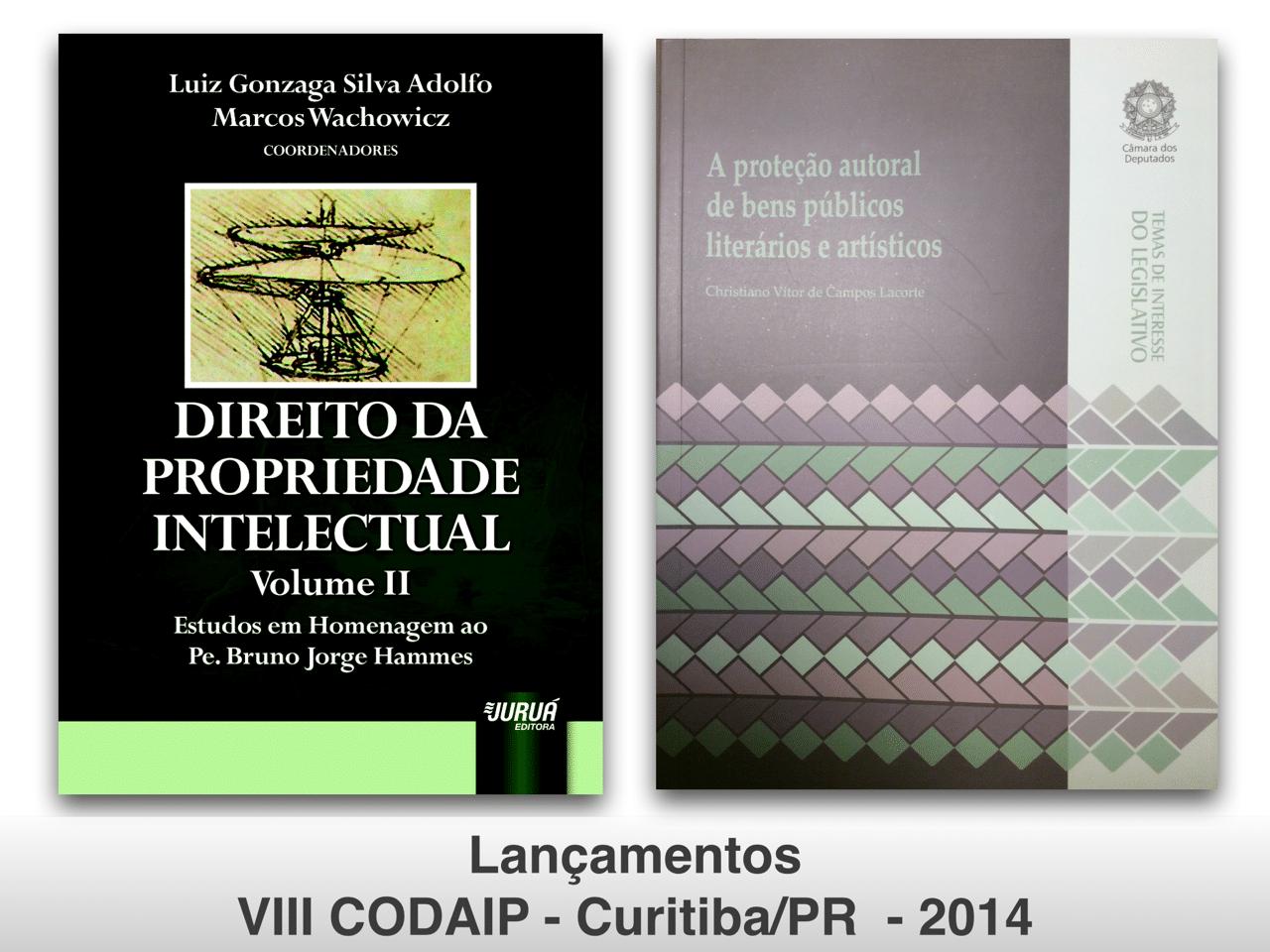 Read more about the article Lançamentos de livros na área de Propriedade Intelectual no VIII CODAIP